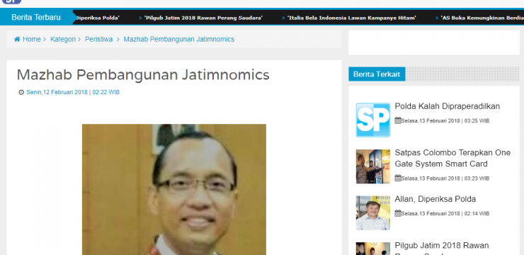 Mazhab Pembangunan Jatimnomics